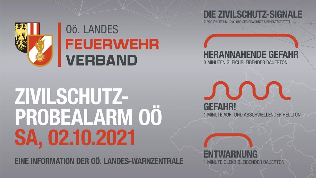 Zivilschutz-Probealarm am 2. Oktober 2021